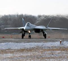 Российский «убийца F-22» загорелся при посадке