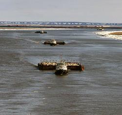Украина увеличивает мощности грузовых речных перевозок