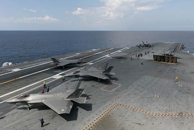Истребитель F-35 сняли инфракрасной камерой