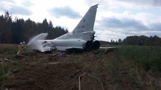 Потерпел крушение очередной российский стратегический бомбардировщик Ту-22М3