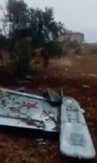 Опубликованы фото и видео сбитого в Сирии российского Су-25