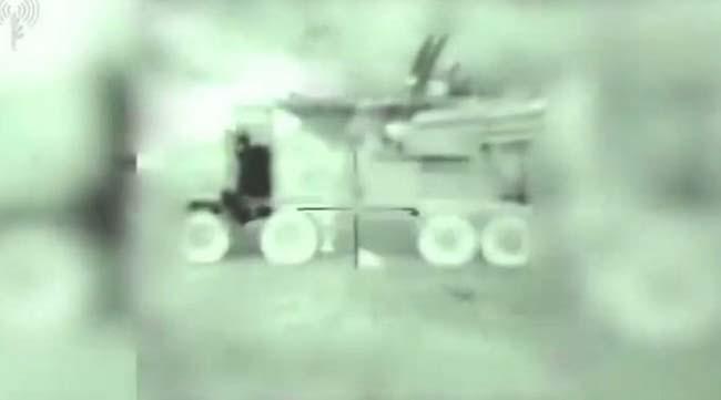 Израиль показал видео уничтожения российского «Панциря» в Сирии